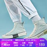 Kappa卡帕串标情侣男女高帮帆布鞋轻便板鞋休闲小白鞋新款K0AW5VS51D苔石灰-12437*2件 376.2元(合188.1元/件)