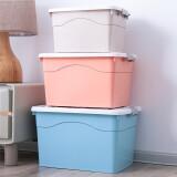 多可家品DKJP 衣服棉被子收纳箱 大号玩具储物箱塑料整理箱车载打包箱收纳盒筐 110L蓝+60L粉+45L灰3件套 *3件 388.7元(合129.57元/件)