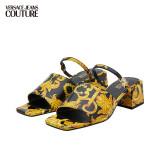 VERSACE 范思哲 范思哲Versace Jeans Couture 奢侈品21春夏女士凉鞋 E0VWAS33-71982 BLKPRINT-M27黑色印花 39 1218元(需用券)