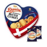 DATE CROWN 皇冠 印尼进口 皇冠(Danisa)丹麦曲奇饼干缤纷装132克-爱心装 21.26元(需买6件,共127.58元)