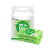 飘漾(PureYoung)婴幼儿护肤柔湿巾手口专用湿纸巾 10片*10包 *10件 99元(合9.9元/件)
