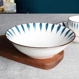 金玫瑰 陶瓷碗具组合家用大号汤碗釉创意下彩餐具套装 流星雨8英寸汤碗 11.9元包邮(需用券)