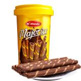 印尼进口 可可乐(Kokola) 香蕉巧克力味 卷心酥 威化饼干250g罐装 *6件 63.4元(合10.57元/件)