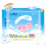 ABC 新肌感系列卫生巾 0.1cm超薄日用棉柔表层240mm*10片(含KMS健康配方) *15件 108.5元(合 7.23元/件)