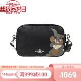 京东国际 COACH 蔻驰 奢侈品 女士单肩斜跨相机小方包 91115黑色兔子 1019元
