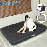 INTEX 内置枕头充气床垫 露营气垫床 户外防潮垫 家用午休躺椅双人折叠床137*191*23cm66768 142元