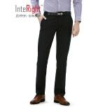 INTERIGHT 精梳棉 修身版男士 商务休闲裤 黑色32码 98元