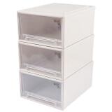 凡高(VENGO) 美第奇塑料抽屉式收纳柜 大号衣物整理柜 收纳箱 储物柜 约30L 3只装 199元
