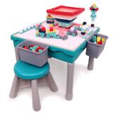 铭塔(MING TA)多功能积木学习桌 塑料拼装玩具游戏桌 男女孩儿童桌椅 159元
