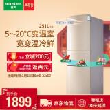 Ronshen 容声 BCD-251WKD1NY 251升 多门冰箱 1879元