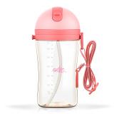 rikang 日康 晶能系列 吸管学饮杯 粉色 350ml 31.5元