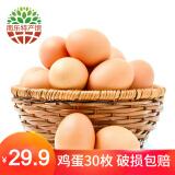 黄河畔 农家散养土鸡蛋笨鸡蛋 30枚 29.9元