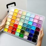 博格利诺BOGELINUO果冻水粉颜料套装56色美术艺考联考学生便捷绘画颜料套装 58.3元