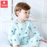 TINSINO 纤丝鸟 儿童空调家居服套装 *2件 49.8元包邮(需用券,合24.9元/件)