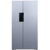 西门子(SIEMENS)610升 变频风冷对开门冰箱 黑晶竖显触摸屏 (欧若拉银)BCD-610W(KA92NE09TI) 6549元