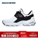 Skechers斯凯奇情侣新款男女D'lites熊猫鞋 时尚懒人休闲鞋12860 白色/黑色/WBK 36 188.20