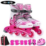 瑞士m-cro迈古溜冰鞋儿童全套装轮滑鞋micro男女可调节直排轮米高旱冰鞋 券后 438元