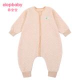 象宝宝(elepbaby)婴儿睡袋 儿童春秋睡袋新生儿宝宝彩棉空气层 分腿睡袋 L码 *2件 96元(合 48元/件)