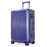 奢选SHEXUAN行李箱男女24英寸铝镁合金拉杆箱商务出差密码箱大容量出国旅行箱飞机轮810蓝色 459元