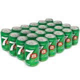 7喜 七喜 7up 柠檬味 碳酸饮料 330ml*24听 秒杀价39.9元
