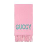 GUCCI 古驰 GUCCI围巾 粉色混纺亮片Guccy装饰女士围巾 502362 3G334 5800 3170元