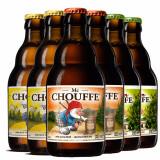 CHOUFFE/舒弗 比利时进口精酿啤酒 麦克/艾尔/琥布朗混装组合 330ml*6瓶 *3件 274元(需用券,合91.33元/件)