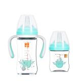 gb好孩子 婴儿玻璃奶瓶 宝宝 宽口径玻璃奶瓶 天使饿魔系列 成长礼盒 浅绿 *2件 178.5元(合89.25元/件)
