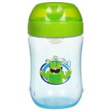 布朗博士(DrBrown's)软吸嘴训练杯宝宝学饮杯270ml(9个月宝宝适用)TC91001(绿色) 24.50