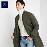 GAP官方旗舰店 男装 中长款外套 军绿色 XL 399元