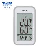 TANITA 百利达 百利达(TANITA)电子温湿度计高精度室内外仪器表附带时间日期闹钟表情款 日本品牌 TT-559 灰色 88元