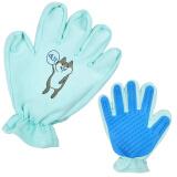 迪普尔 宠物撸猫手套猫咪除毛 蓝色 *3件 46.8元(合 15.6元/件)