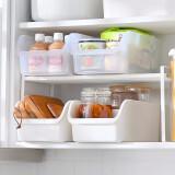 百露冰箱食物保鲜盒透明食品收纳储物盒厨房塑料盒子收纳盒 透明色3个装 *4件 73.44元(需用券,合18.36元/件)