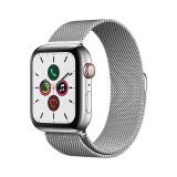 Apple Watch Series 5智能手表(GPS 蜂窝网络款 44毫米不锈钢表壳 米兰尼斯表带 ) 5399元