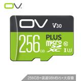 OV 256GB TF存储卡 U3 C10 V30 高速PLUS版 读速98MB/s 手机平板音响点读机高速存储卡359.9元 359.90