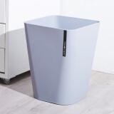 妙然 北欧素色大号无盖垃圾桶卫生间废纸篓拉圾筒 家用厨房客厅塑料垃圾筒 19.9元