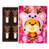 怡浓麋鹿宝贝可爱鼠纯脂节日黑巧克力礼物送女友儿童零食礼物(女宝贝)120g*4件 44.8元(需用券,合11.2元/件)