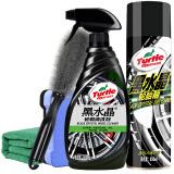 龟牌(Turtle Wax)黑水晶轮毂清洗剂轮胎釉轮胎宝套装汽车清洁剂清洗剂上光剂皮革蜡汽车蜡TC-4159-1 *4件 99.2元(合24.8元/件)