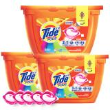 汰渍 Tide 三色球 3合1洗衣凝珠(焕彩护色)18颗/盒*3 非洗衣液 87.91元