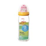 pigeon 贝亲 宽口径玻璃奶瓶 进口版 240ml M号 橙色 +凑单品 84.7元