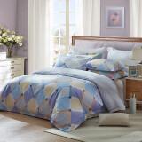 LUOLAI罗莱家纺 纯棉四件套 全棉床品套件床上用品床单被套 AD8216-4 薄荷汽水220*250cm 298元