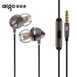 爱国者(aigo) A691动铁圈铁手机耳机入耳式高清降噪带麦线控耳塞式 蜂王多单元 棕色 139元
