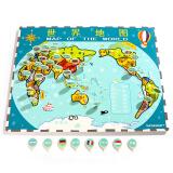 特宝儿(topbright)世界地图木质拼图儿童玩具益智早教 *2件 150元(合 75元/件)