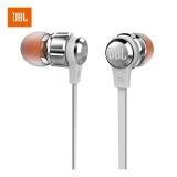 JBL T180A 立体声入耳式耳机 耳麦 运动耳机 带麦可通话 游戏耳机 银色 109元
