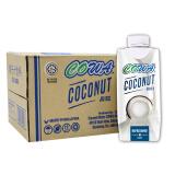 COWA 马来西亚进口椰子汁饮料330ml*12瓶 椰奶饮料 整箱椰汁 29.5元(需买2件,共59元)