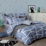 多喜爱(Dohia)床品套件 cosmo系列全棉中性双人加大纯棉四件套 床单款 赫尔辛格 1.8米床 230*230cm 297元