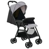 咕比(Gubi)婴儿推车 超轻便折叠便携伞车 可坐可躺高景观婴儿车J-S201B-01(典雅灰) 499元