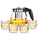 紫丁香 900ML耐热茶壶套装小怡然茶具五件套S388 *5件 99.5元(合19.9元/件)