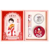 上海女人 经典夜来香三件装礼盒套装(雪花膏80g+打底霜24g+樱花香水10ml) *3件 107元(合35.67元/件)
