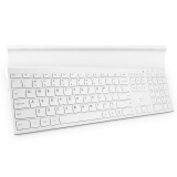 航世(B.O.W)HW192C 可充电金属办公无线键盘 笔记本电脑通用小键盘 白色 79元
