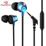 摩集客(MOGCO) 摩集客 M11手机耳机入耳式 重低音线控带麦可通话音乐耳机安卓苹果小米游戏耳机 蓝色 9.9元
